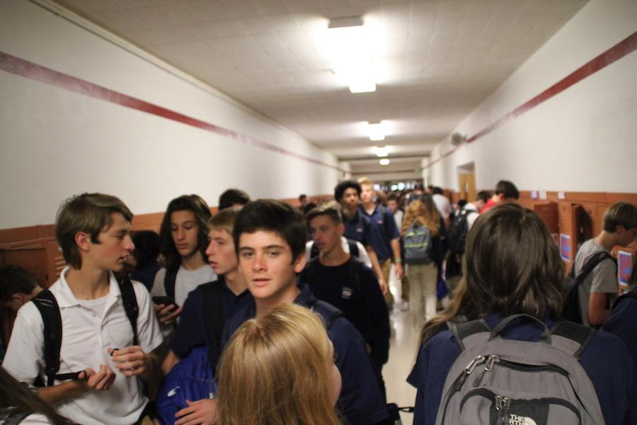 New start: The class of 2020 begins their first year of high school.  Throughout the past weeks, freshmen have gained new experiences, both good and bad.
