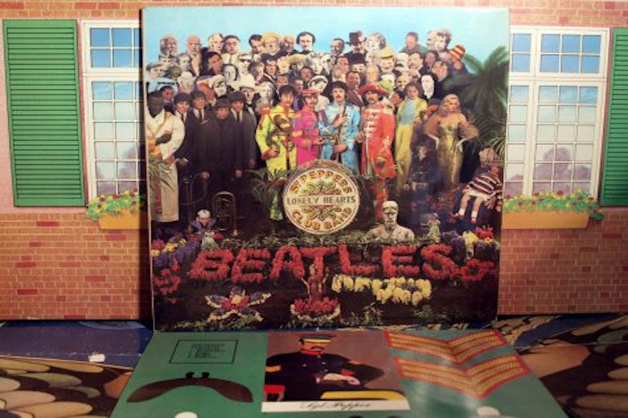 SGT. PEPPER TAUGHT THE BAND: The Beatles final and most iconic album turns 50 this year. The original vinyl album cover is shown above.