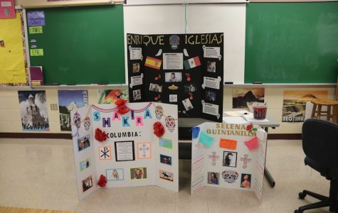 HONORING THE DEAD: Students make altars for famous people. Making altars in one of the many traditions that people do during Day of the Dead.