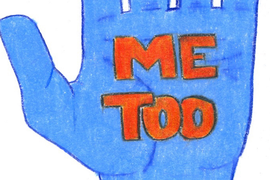 ME TOO: Pictured above is a hand raised in support of the Me Too movement. This movement was started over 10 years ago by activist Tarana Burke and gained popularity last year when actress Alyssa Milano called for victims to respond to her tweet with #MeToo.