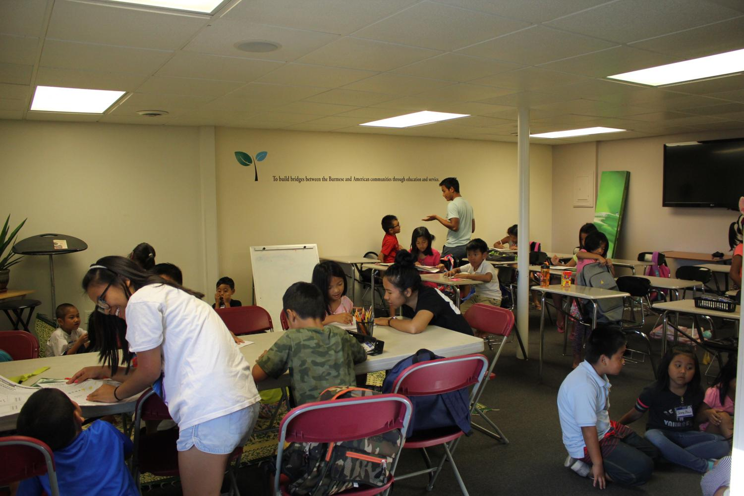NEW FACILITY: Over 30 students ranging from kindergarten to 8th grade receive homework help. The new Hope for Tomorrow facility holds over 80 students, almost double the amount of the old facility.