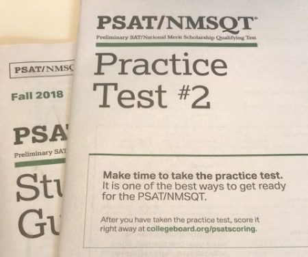 PSAT PRACTICE: Sophomores receive a practice test to help prepare them for the PSAT. Test prep received by students is optional, but highly recommended.