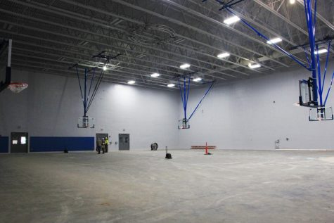 ALMOST DONE: The new gym sits empty, awaiting its final touches. The project