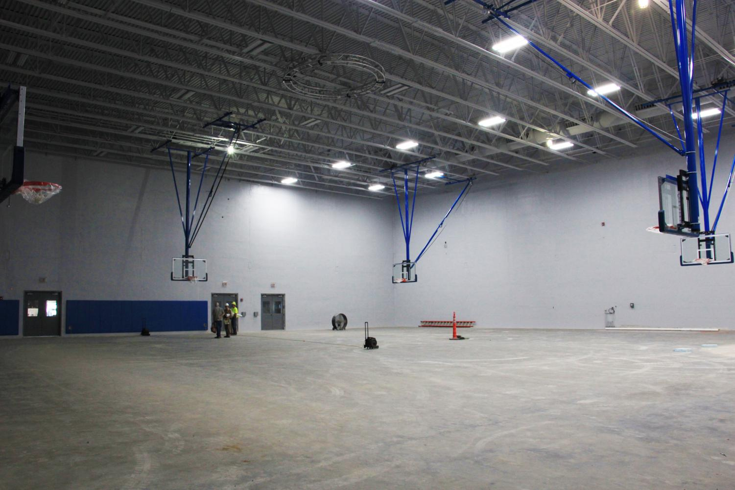 ALMOST DONE: The new gym sits empty, awaiting its final touches. The project's estimated completion date is currently set for November.