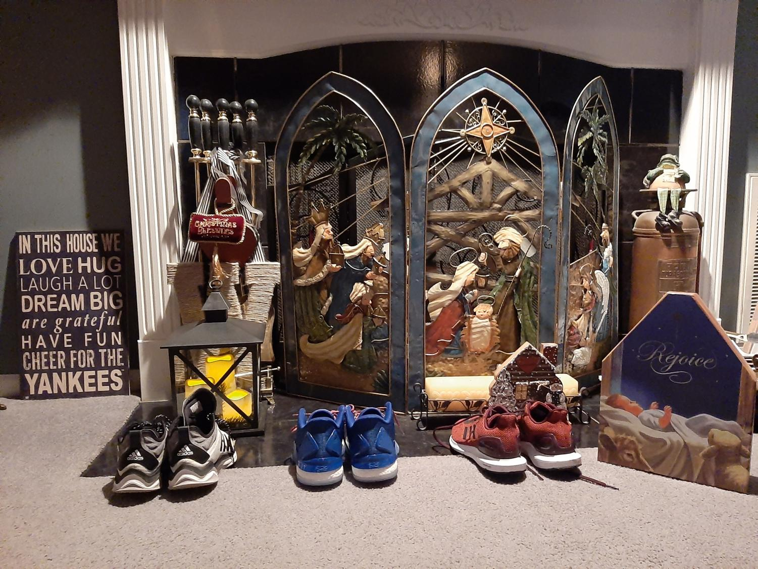 WAITING FOR ST. NICK:Traditionally, children will leave a pair of shoes by the fireplace for St. Nicholas to fill with gifts and crafts. Being close to the celebration of Christmas, this holiday's gifts are often similar to stocking stuffers, with the addition of St. Nicholas related candy.