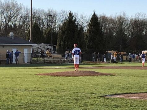 WINDUP: Senior Sammy Baugh stands at the mound, preparing to go head-to-head against the opposing batter. Baugh would have broken the dreams of many batters if he had had his senior season.