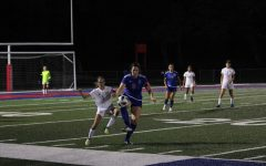 STARTING STRONG:  Senior Chiara Schilten controls the ball in front of the Greenfield defender.  Schilten scored a goal in this game.