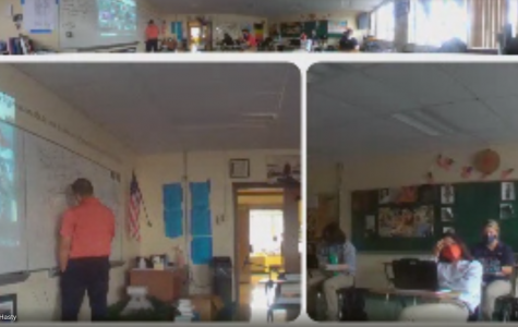This is a look at Hasty's OWL Camera, a 360-degree camera that he uses to show synchronous learners what's going on in class. The other two cameras on the owl track people that are talking or moving the classroom.