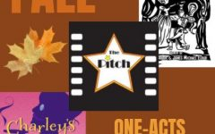 "COMING SOON: One-Acts ""All In Disguise"", ""Charley's Aunt"", and ""The Pitch"" will all be performed this November, starting on the 11th at 7:00 p.m. Shows have been shortened and tweaked to give the audience a lot of action in under half an hour."