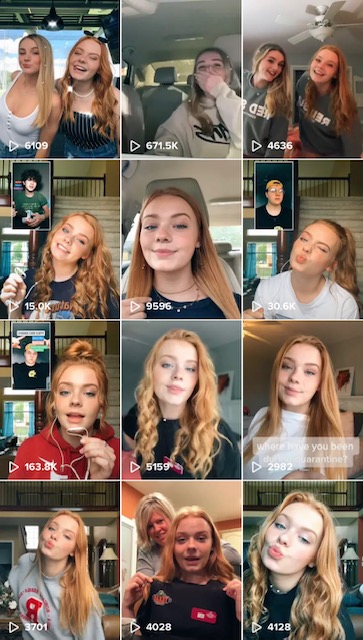 For the Views:  Senior Ali Dafforn continues to grow her TikTok page with new and creative content. Dafforn currently has over 32,000 followers and over 345,000 likes on her account.