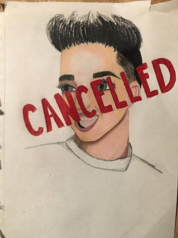 "SAYONARA SISTER: This drawing depicts James Charles, a famous internet personality who was ""cancelled"" in May of 2019, setting into motion a new social trend. ""Cancel culture"" now floods the media as the  internet starts holding celebrities accountable."